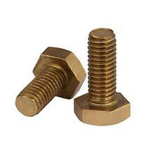 2PCS M8 x 40mm Solid Brass Hex Head Cap Screws Hex Tap Bolts Full Thread DIN933