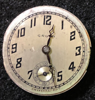 Vintage Gruen Guild Deco Watch Movement Tick Runs Deco 15j Swiss
