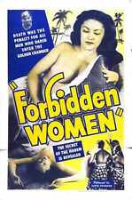 Forbidden Women Poster 01 Metal Sign A4 12x8 Aluminium