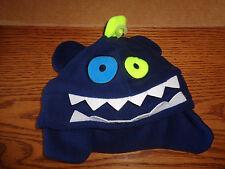 NWT Wonderkids - Boys Winter Navy Blue Monster - Creature  Hats - OSFM