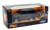 Welly 1:24 Scale Land Rover Defender Remote Control Car In Green **BRAND NEW**