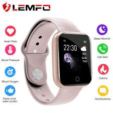 Lemfo I5 Reloj inteligente mujer presión de oxígeno en la sangre frecuencia cardíaca Impermeable SmartBand