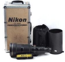 EX+ Nikon AF-S Nikkor D II 500mm F/4 Telephoto Lens w/hood, Aluminum box 500/F4