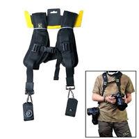 Double Dual Shoulder Camera Neck Strap Quick Release Digital SLR DSLR Camera USA