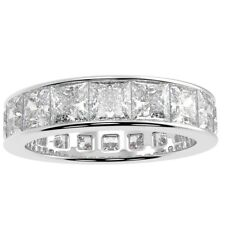 2.00CtPrincess Diamond Channel Set Full Eternity Ring,18 K Gold