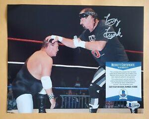 Terry Funk WWE legend signed autographed 8x10 photo coa BAS beckett #V59066