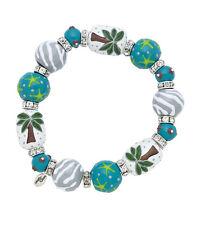 Clementine Design Kate & Macy Palm Tree Vista Glass Beaded Jewelry Bracelet