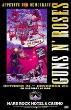 "GUNS N' ROSES ""APPETITE FOR DEMOCRACY"" 2012 LAS VEGAS CONCERT TOUR POSTER - Rock"