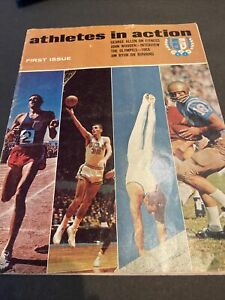 1967 ATHLETES IN ACTION COMPLIMENTARY 1ST ISSUE~WOODEN~ROCKY MARCIANO~ALCINDOR++