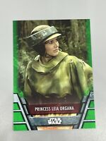 Princess Leia Organa 2020 Topps Star Wars Holocron Green Parallel #REB-16