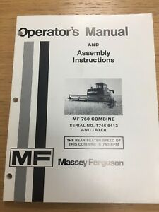 MASSEY FERGUSON 760 COMBINE OPERATORS MANUAL (02)