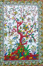 Tree Of Life Hippie Tapestry Bedspread Wall Hanging poster Textile 40*30 Red Art