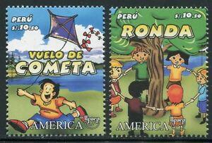 Peru 2009 UPAEP Kinderspiele Reigen Drachensteigen 2383-2384 Postfrisch MNH