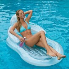 Pool Lounger Inflatable Float Swimming Floating Lounge Raft Floater Chair Clear