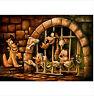 Disney Pirates of the Caribbean Here Poochie  Darren Wilson Art Print 16 x 20