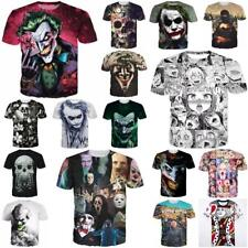 Horror Devil 3D Printed Womens/Mens Scary T-Shirts Short Sleeve Casual Tee Tops