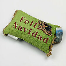 Feliz Navidad Sombrero ~ Merry Christmas Tapestry Word Pillow