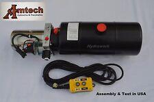 3208C Hydraulic Power Unit, Hydraulic Pump, 12V Single Acting,8Qt, Dump Trailer