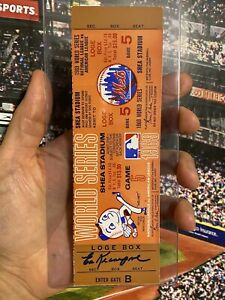 1969 World Series New York Mets Clinching Game 5 Full Proof Ticket Signed Auto