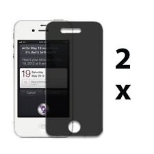 2 Privacy Anti-spy Screen Protector Guard Shield Film for Apple iPhone 4 4G 4S