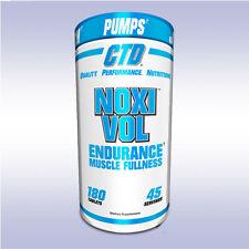 CTD NOXIVOL (180 TABLETS) vasodilator pump boost no3 beta alanine joint support