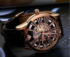 NEW Emporio Armani Men's AR4629 Automatic Meccanico Black Skeleton Dial Watch