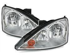 Clear chrome headlight front light set for Ford Focus 1 01-04 MK1 Facelift SET
