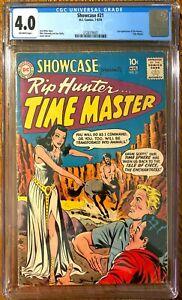 Showcase #21 CGC 4.0 OWP (2nd App of Rip Hunter & Time Masters) (DC Comics)