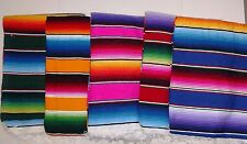 Mexican Serape Blanket Striped various colors with rainbow colors Southwest XL