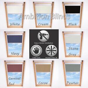 BLACKOUT ROLLER ROOF BLINDS FOR ALL FAKRO WINDOWS EASY FIT CHILD SAFE