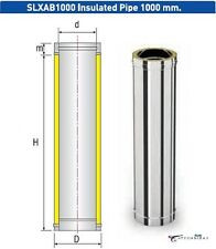 Solinox SLXAB1000 300mm Insulated Chimney Flue Pipe Double Wall 1000mm Long