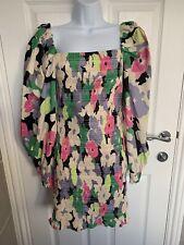 H&M SS2020 consciente de Algodón Floral Vestido Smocked Bloggers Talla Pequeña BNWT
