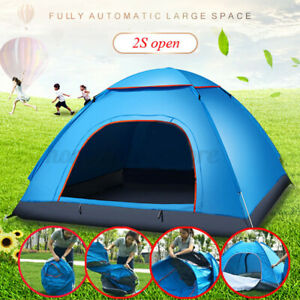 2-3 Person Instant Up Auto Camping Tent Waterproof Outdoor Rest  Hiking Travel