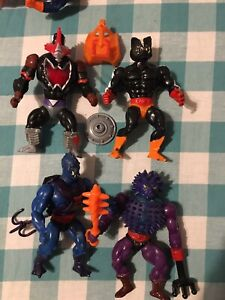 Vintage MOTU He-Man Figure Lot- Mosquitor, Stinkor, Webstor, & Spikor