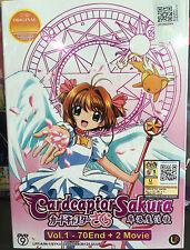 Anime DVD: Cardcaptor Sakura (1-70 End)+2 Movie_Good Eng Sub_R0_FREE SHIPPING