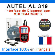 Interface Diagnostique AUTO MultiMarques - AUTEL AutoLink AL319 Valise Diag OBD2