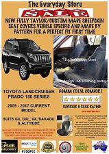 Custom Tailor Made Sheepskin Car Seat Covers For Toyota Prado 150 09-18 FRT+MID