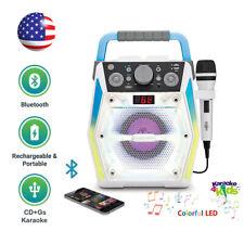 Kids Karaoke System Singing Machine Bluetooth Disco Lights w/ Microphone Sml2200