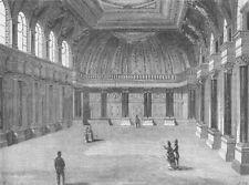THROGMORTON STREET. Interior of Drapers' Hall. London c1880 old antique print