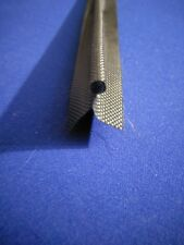 1m Zeltkeder Fahne verschweißt Schwarz Zweifahnig D=7,5mm Keder Vorzeltkeder
