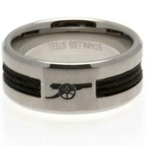 Official ARSENAL FC Stainless Steel Black Inlay RING Gunners Gift