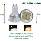 Regulable 9/12/15W GU10 LED Spotlight Lámpara Luz Reemplace la bombilla halógena