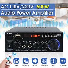 600W bluetooth HiFi Home car Stereo Amplifier Music Receiver FM Radio 110V/220V