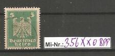 Deutsches Reich Mi-Nr.: 356 X x Faserpapier sauber gestempelt gepr. Schlegel.BPP