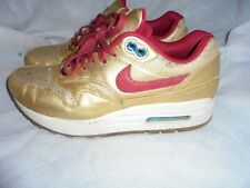 NIKE AIR LADIES GOLD LEATHER/TEXTILE LACE UP TRAINERS SIZE UK 4.5 EU 38 US 7 VGC