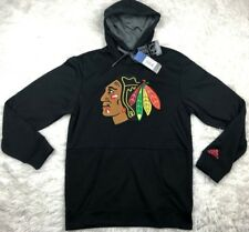 "Chicago Blackhawks Adidas NHL Men's ""Checking"" Pullover Hooded Sweatshirt Size S"