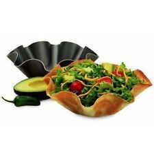New 4x Tortilla Pan Set Baking Perfect Nonstick Bowl Taco Salad Shell Mold