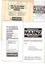 Ältere Leonberger Bausparkasse Werbung ab 1974 Reklame Anzeigen Annoncen