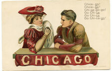 "College Girl & Boy Christy ""Chicago"" University 1908"