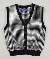 EP PRO Sleeveless button front Black and White Sweater size Large